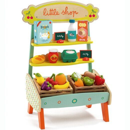 mercado-de-madera-little-shop-con-alimentos---djeco