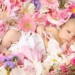 Bebe-flores-tierno-lindo-adorable-rosas-margaritas