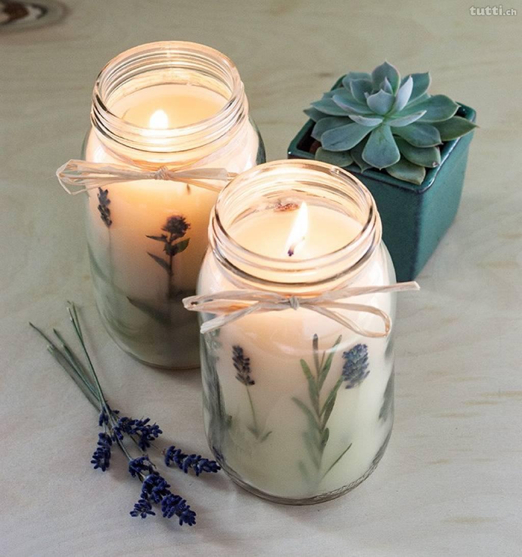 diy velas aromticas con flores - Velas Aromaticas