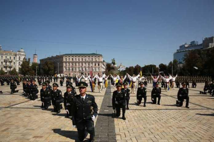 На Софійській площі відбувся видовищний флешмоб