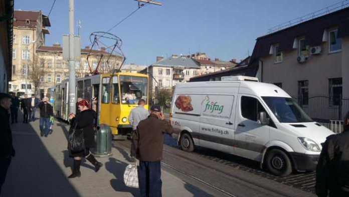 У Львові не курсують трамваї. Фото Варта=1