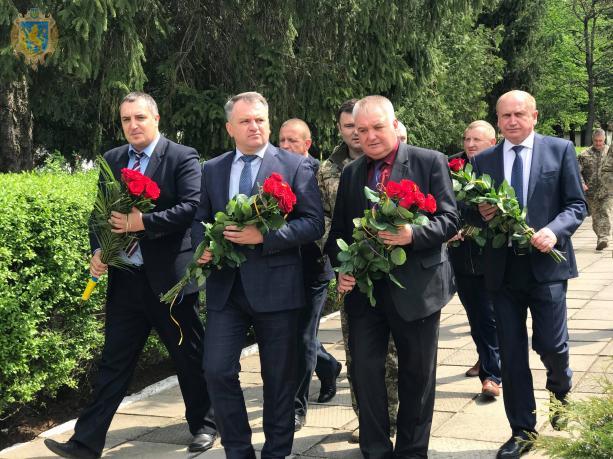 На Бродівщині вшанували загиблих льотчиків. Фото прес-служба ЛОДА