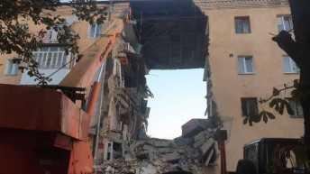 Обвал будинку у Дрогобичі. Фото ДСНС