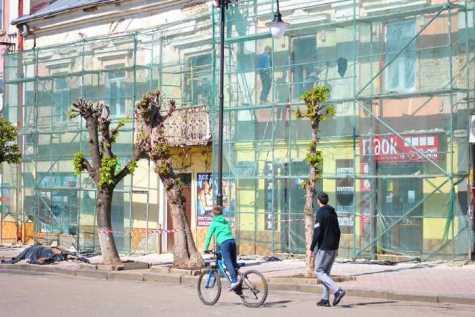 У Самборі відремонтують фасад будинку. Фото: Самбірська міська рада.
