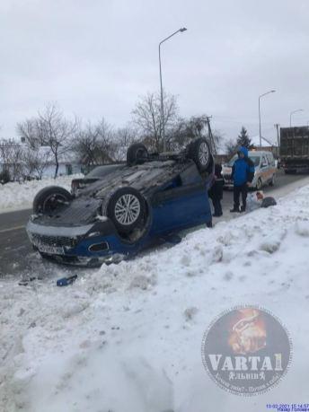 У Запитові перекинувся автомобіль, фото Варта-1