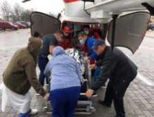 На Львівщині вертоліт ДСНС оперативно доправив пацієнта з віддаленого гірського населеного пункту