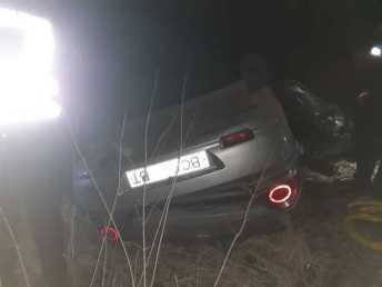 На Львівщині перекинувся автомобіль