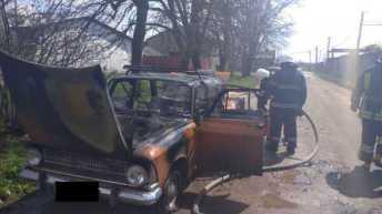 У Стрийському районі згорів автомобіль, фото ДСНС