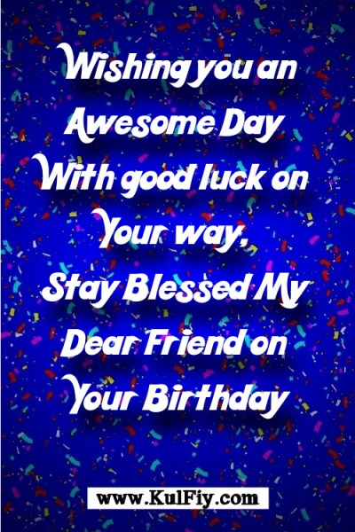 Birthday Wishes for Best Friend in English