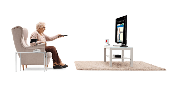 Is TV the new tablet for seniors