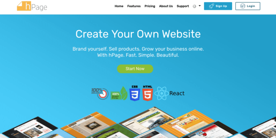 hpage-free-website-builder