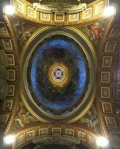 バチカン 青のドーム天井
