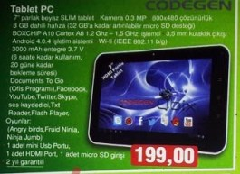 Codegen Qbix M71B1 Tablet