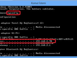 Bilgisayar İp Bulma ve Değiştirme
