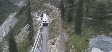 Top View of Rohtang Tunnel
