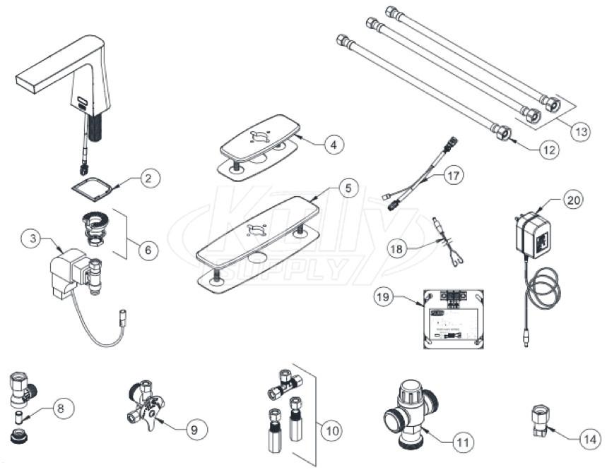 zurn z6953 xl camaya faucet parts breakdown