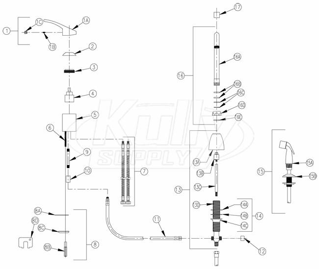 zurn z824c0 hs faucet parts breakdown