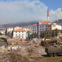 Madeira - Bauarbeiten in Funchal