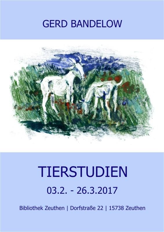 """Ausstellung """"Tierstudien"""""""
