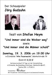 Jörg Gudzuhn liest Stefan Heym