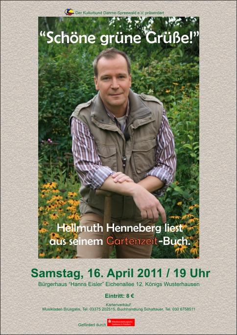 """Hellmuth Henneberg liest """"Schöne grüne Grüße!"""""""