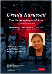 Ursula Karusseit liest Weihnachtsgeschichten