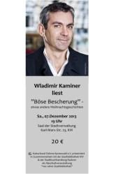 """Wladimir Kaminer liest """"Böse Bescherung"""""""