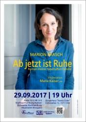 """""""Ab jetzt ist Ruhe"""" - Lesung und Gespräch mit Marion Brasch"""