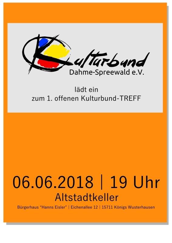 Erster offener Kulturbund-TREFF 2018