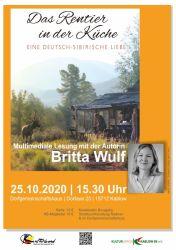 """""""Das Rentier in der Küche"""" - multimediale Lesung mit Britta Wulf"""
