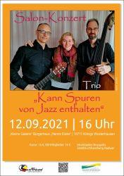 """Salon-Konzert mit dem Trio """"Kann Spuren von Jazz entalten"""""""