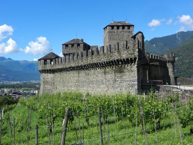 Das Castello di Montebello von oben.