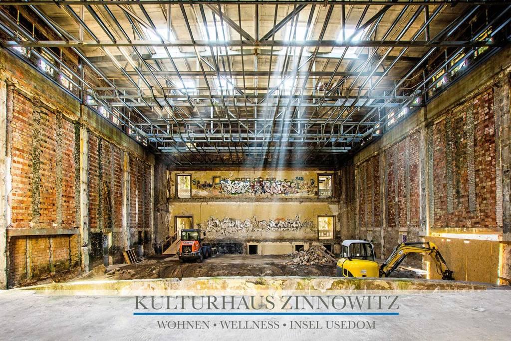 Ferienwohnung kaufen auf Usedom - Sanierung Kulturhaus Zinnowitz