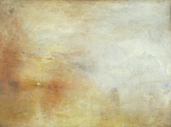 Sun Setting over a Lake c.1840 Joseph Mallord William Turner 1775-1851 Accepted by the nation as part of the Turner Bequest 1856 http://www.tate.org.uk/art/work/N04665