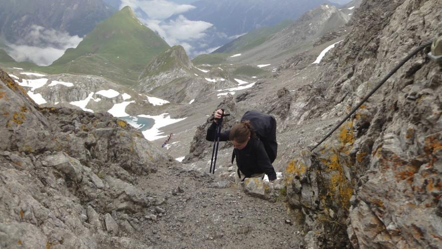 Seescharte, die Schlüsselstelle der Alpenüberquerung