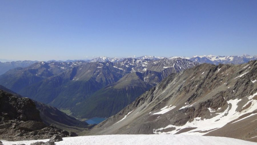 Nun nur noch bergab Richtung Vernagt-Stausee! - Alpenüberquerung