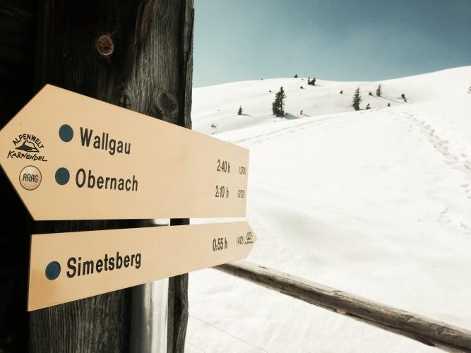 An der Simetsberg-Diensthütte.
