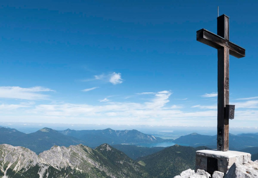 Gipfelkreuz auf der Soiernspitze.
