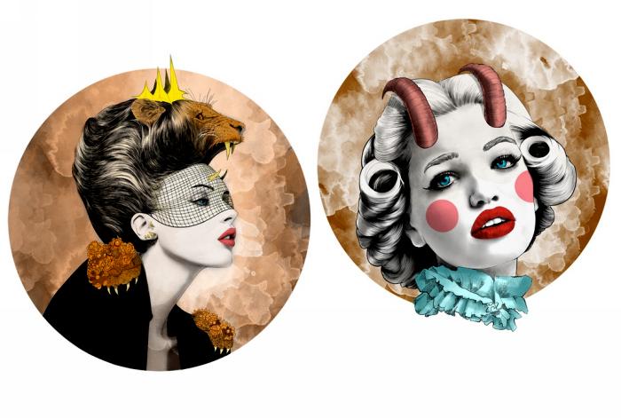 Лев и Козерог. Серия Zodiac Illustration от Mustafa Soydan