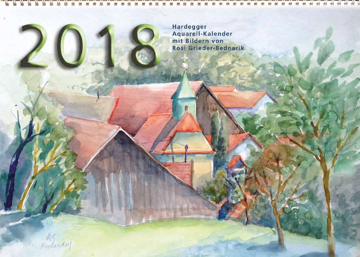 Hardegger Aquarellkalender 2018