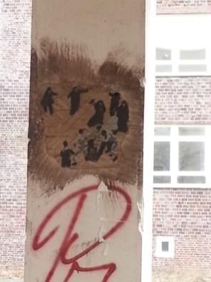 Streetart in Hamburg: Übermalte Kunstwerke - Schade! - Aber sieht in diesem Fall sogar besser auf.