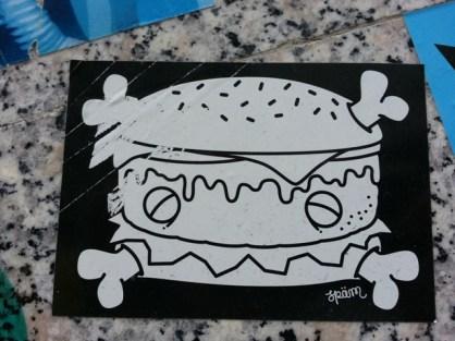 Streetart in Hamburg: Burger.