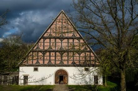 Zehntscheune/Eingang im Museumsdorf Cloppenburg. Foto: Wera Wecker