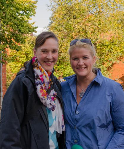 Wera Wecker und Anke Harnack bei der Kiekeberger Lebensmittelmesse 2014