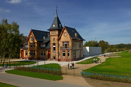 Die wunderschöne Villa, die die Ausstellung der Wasserkunst Elbinsel Kaltehofe beherbergt. © Wasserkunst Hamburg