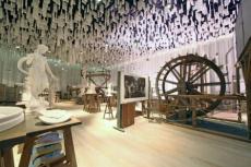 Innenansicht des Museumskubus - Neubau von Andreas Heller Architects & Designers. Bild Wasserkunst Elbinsel Kaltehofe