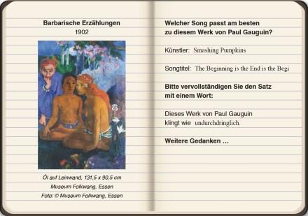Seitenausschnitt aus dem digitalen Booklet zu #GauguinSounds