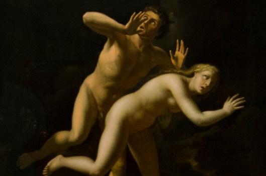 Adriaen van der Werff Die Vertreibung aus dem Paradies um 1700 Staatliche Kunsthalle Karlsruhe