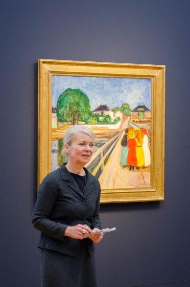 Direktorin Frau Westheider begrüßt unsere Gruppe im Museum Barberini