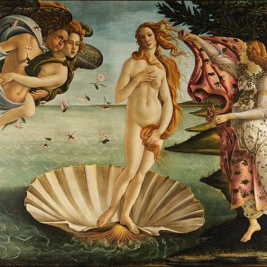 The Birth of Venus. Sandro Botticelli, 1485, Uffizi Gallery